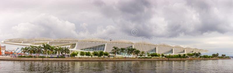 Museet av i morgon panorama- på Rio de Janeiro royaltyfri foto