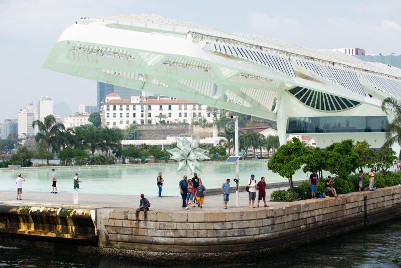 Museet av morgondagen, ett vetenskapsmuseum i Rio de Janeiro arkivfoto