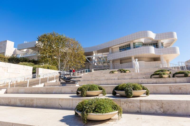 Museet för J Paul Getty Museum i Los Angeles royaltyfri fotografi