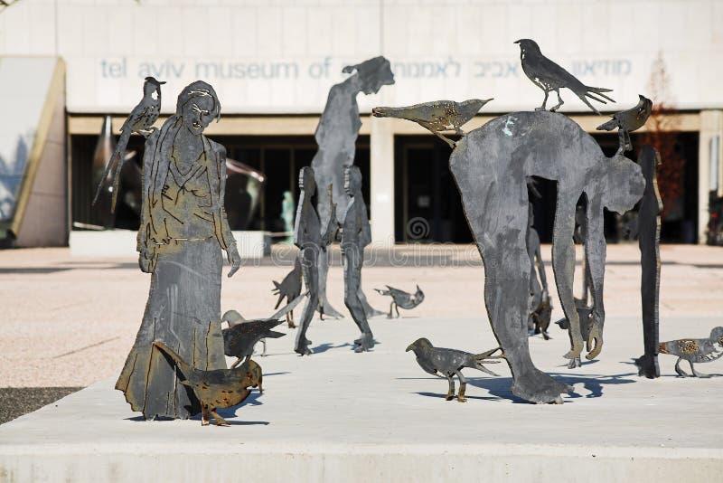 museet för konstavivframdelen skulpterar telefon arkivfoto