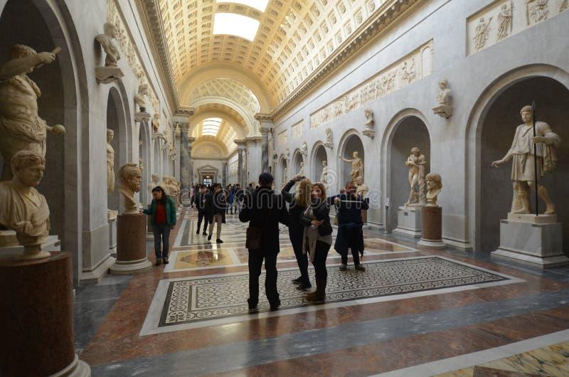Musei del Vaticano, attrazione turistica, museo, statua, costruente fotografia stock libera da diritti