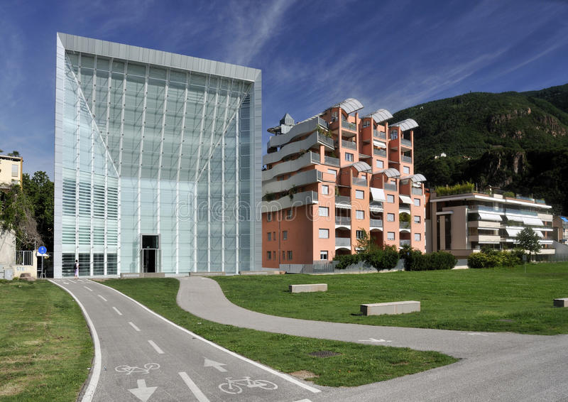 Download Museion in Bolzano stock image. Image of buildings, tyrol - 15428581
