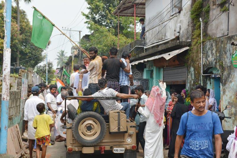 Muselmanprotester i Indien arkivbild
