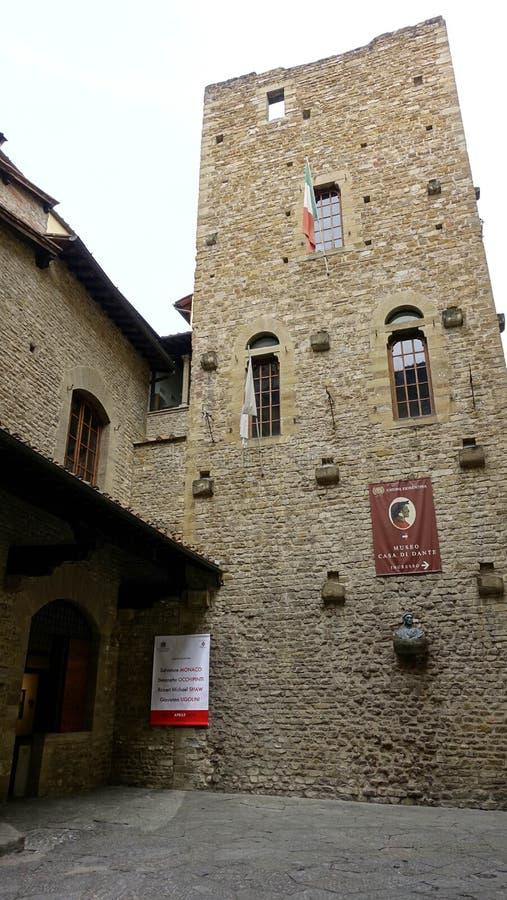 Museo Каса di Dante, ФЛОРЕНС стоковая фотография