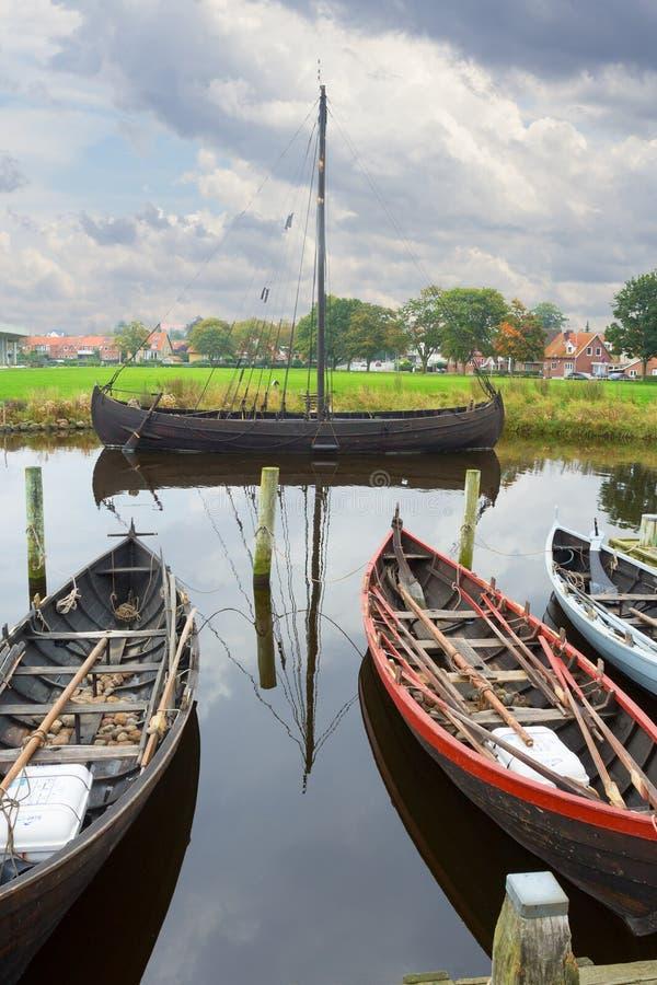 Museo al aire libre de los buques de guerra de Roskilde fotos de archivo