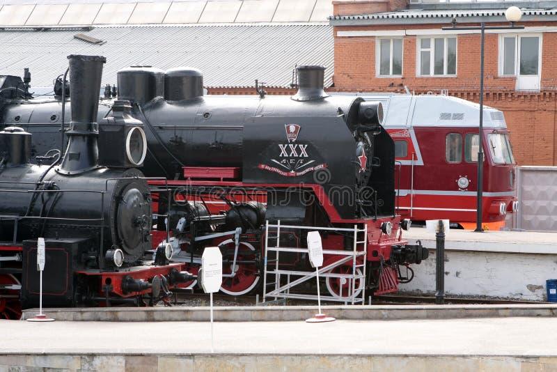 Museo al aire libre locomotor en St Petersburg, Rusia imagen de archivo libre de regalías