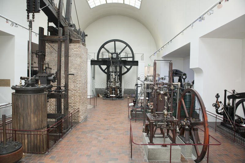 Museo alemán Munich de los motores de vapor imagen de archivo libre de regalías