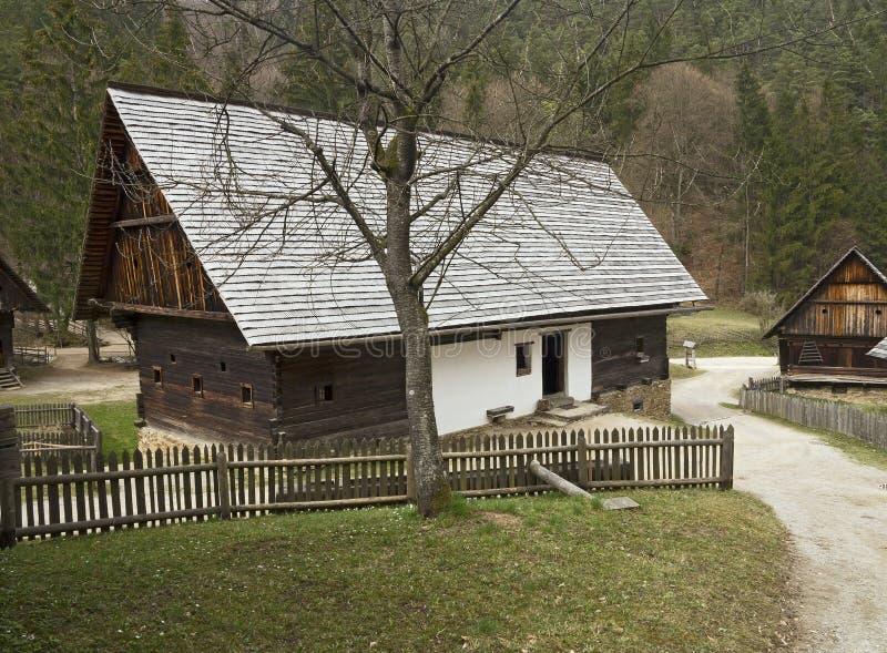 Museo all'aperto austriaco Stuebing vicino a Graz: Azienda agricola di Grossschrotter fotografie stock libere da diritti