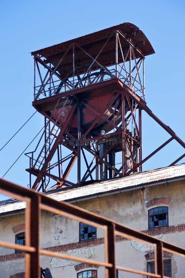 Museo all'aperto, miniera di carbone Mayrau, Vinarice, Kladno, repu ceco fotografia stock