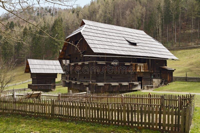 Museo all'aperto Stuebing: Rauchstubenhaus immagini stock libere da diritti