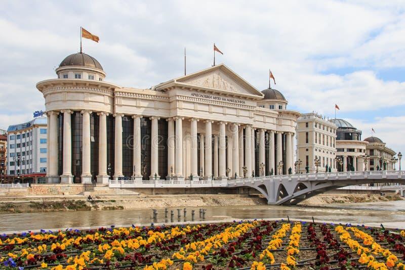 Museo archeologico macedone a Skopje fotografie stock
