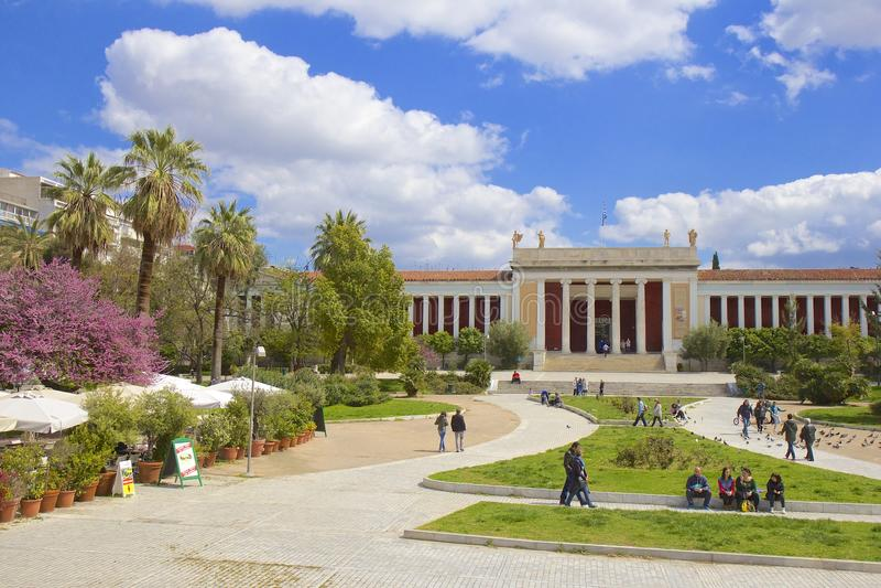 Museo archeologico nazionale a Atene, Grecia fotografia stock libera da diritti