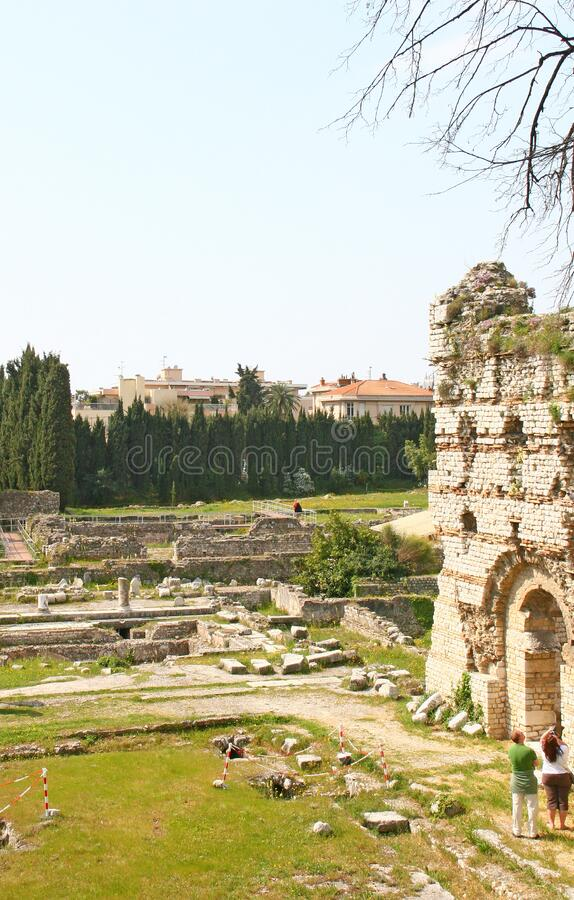 Museo arqueológico de Niza foto de archivo
