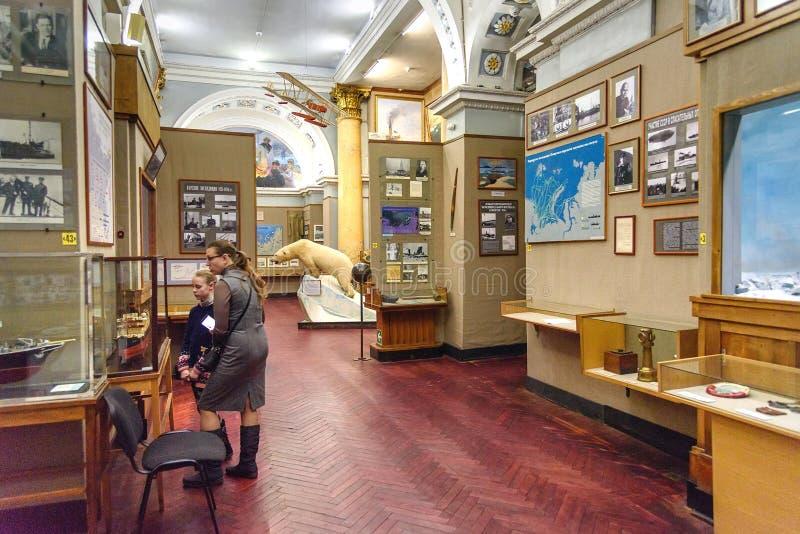 Museo artico ed antartico in San Pietroburgo, Russia fotografia stock