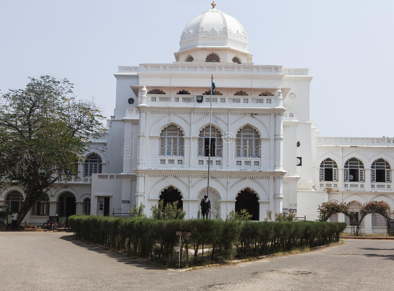 Museo bianco di gandhi immagini stock