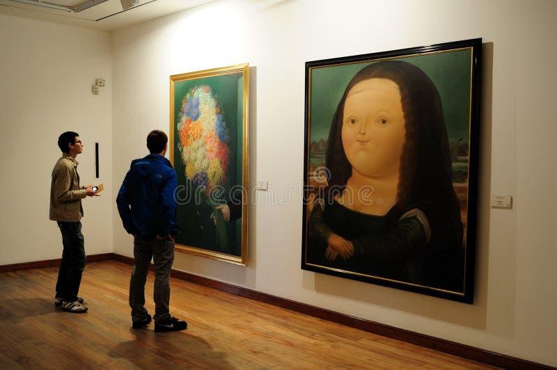 Museo Botero - Bogota arkivbild
