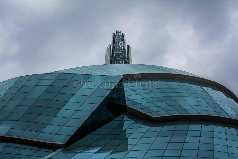 Museo canadiense para los derechos humanos foto de archivo libre de regalías