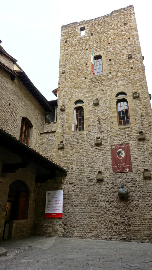 Museo Casa di Dante,FLORENCE stock photography