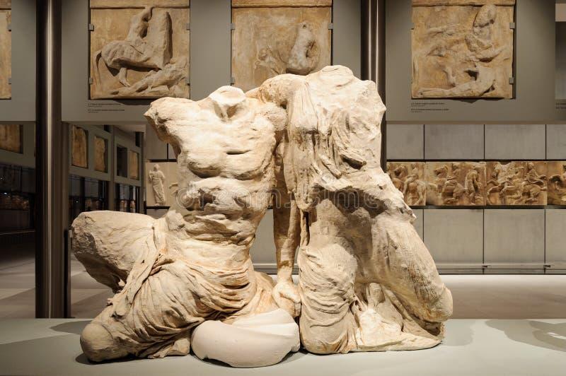 Museo Cecrops Pandrosos de la acrópolis foto de archivo libre de regalías