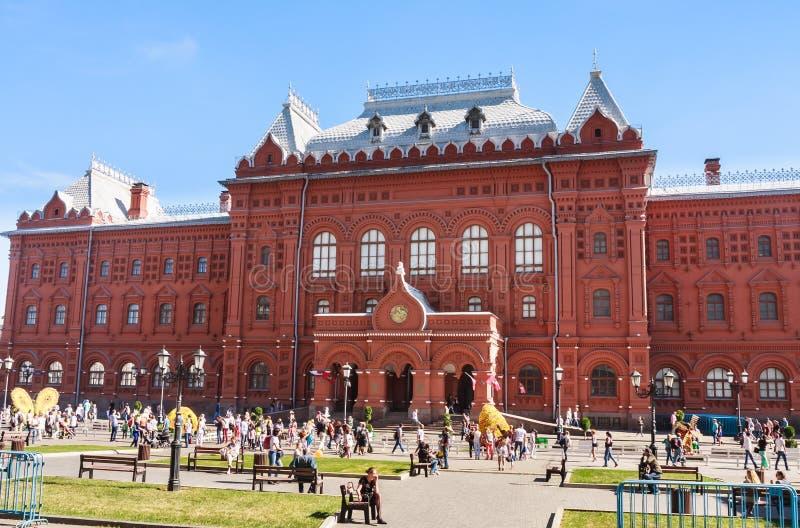 Museo central anterior de Lenin en cuadrado de la revolución foto de archivo libre de regalías