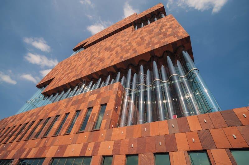 Museo de aan stroom, MAS, Amberes imágenes de archivo libres de regalías