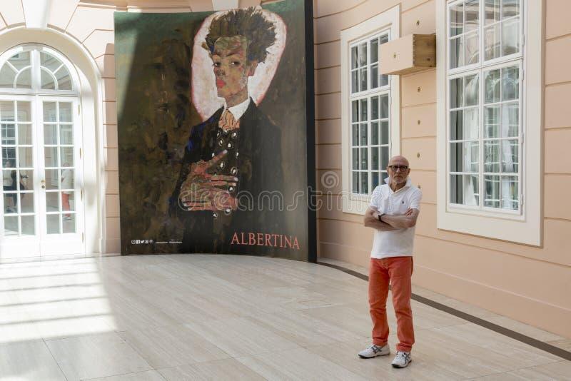 Museo de Albertina en Viena foto de archivo libre de regalías