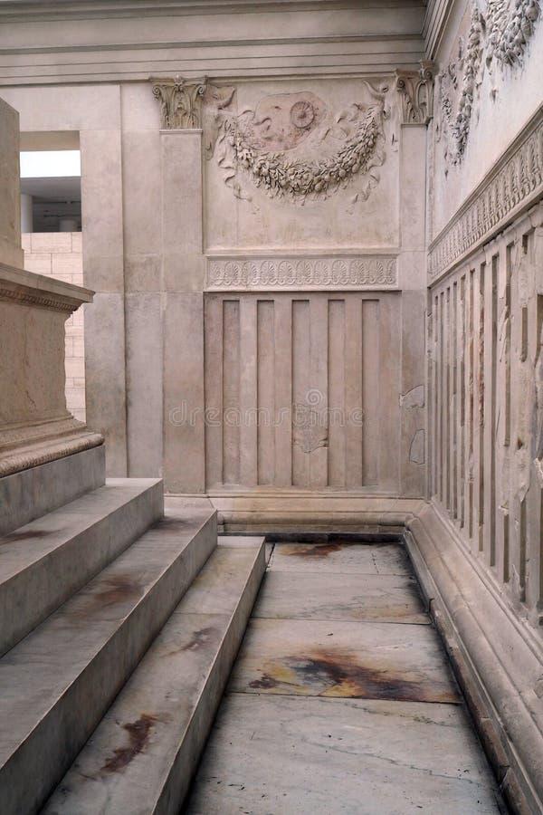 Museo de Ara Pacis en Roma, Italia fotografía de archivo