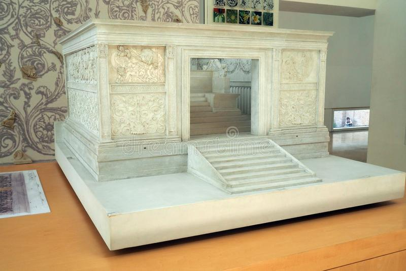 Museo de Ara Pacis en Roma, Italia fotografía de archivo libre de regalías