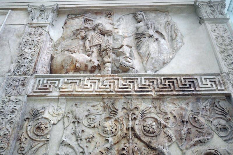 Museo de Ara Pacis en Roma, Italia imágenes de archivo libres de regalías