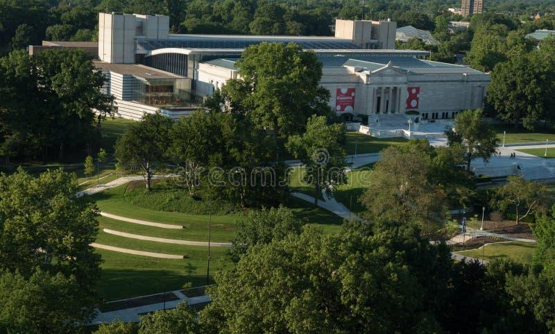 Museo de arte de Cleveland y la calzada desde arriba imagenes de archivo