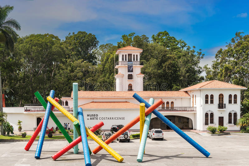 Museo de arte Costarican en el capital San Jose imagen de archivo libre de regalías