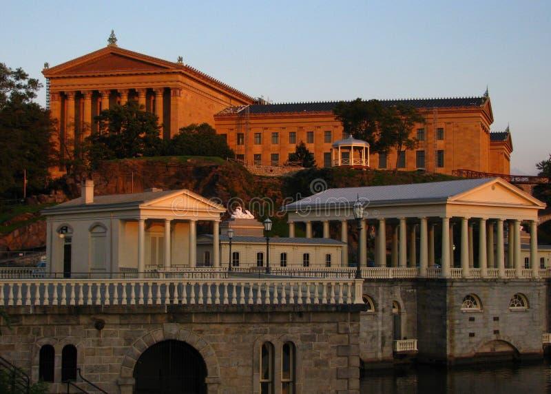 Museo de arte de Philadelphia foto de archivo