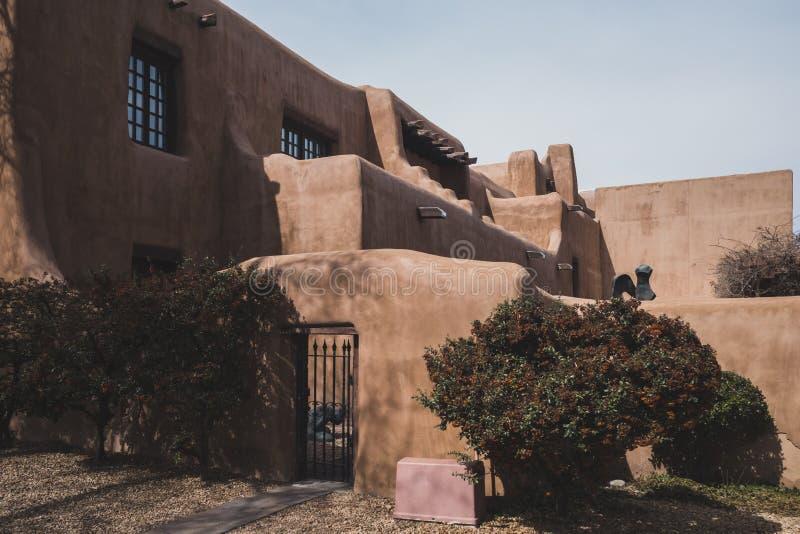Museo de arte en Santa Fe, New México, los E.E.U.U. imagenes de archivo