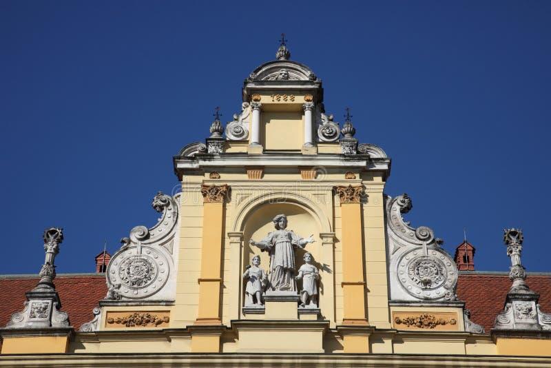 Museo de artes y de artes en Zagreb foto de archivo