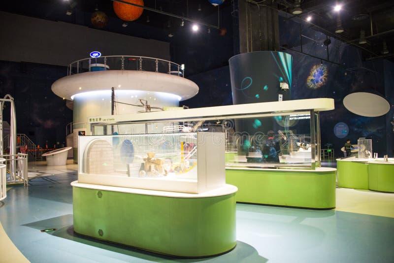 Museo de Asia China, de Pekín, de la ciencia y de la tecnología, sala de exposiciones interior, foto de archivo libre de regalías