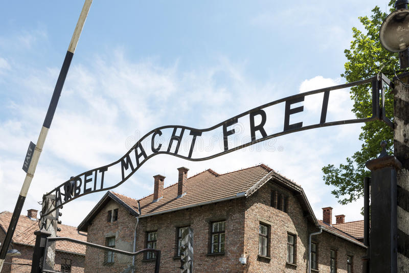 Museo de Auschwitz imágenes de archivo libres de regalías