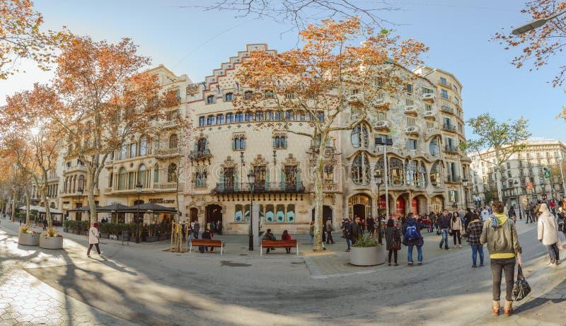 Museo de Batllo de la casa, Barcelona imagenes de archivo