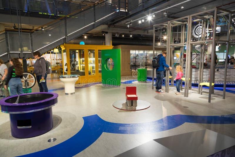 Museo de ciencia en Amsterdam imagen de archivo libre de regalías