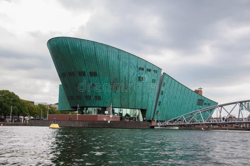 Museo de ciencia de Nemo Amsterdam imágenes de archivo libres de regalías