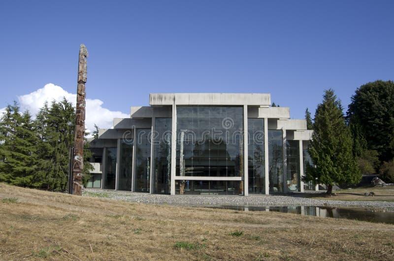 Museo de la antropología en UBC imagen de archivo