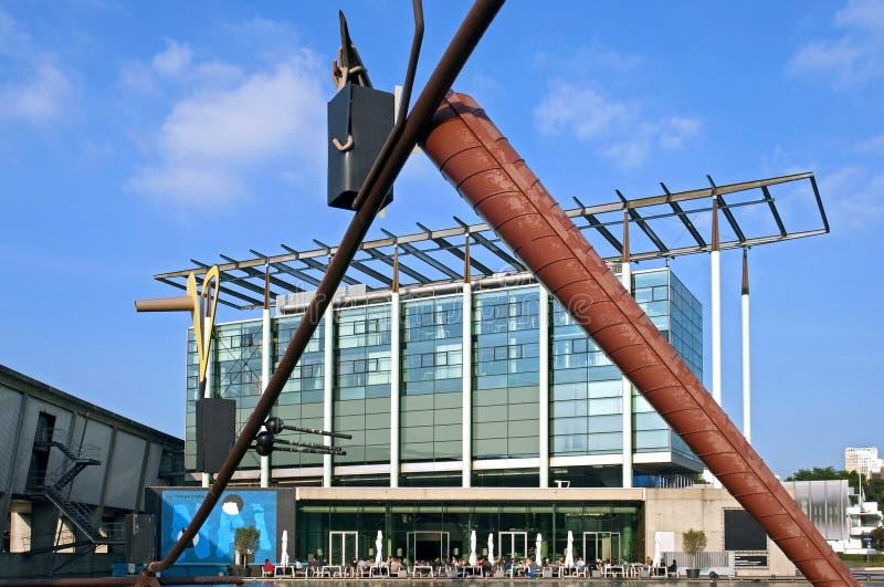 Museo de la arquitectura el nuevo instituto Rotterdam foto de archivo libre de regalías