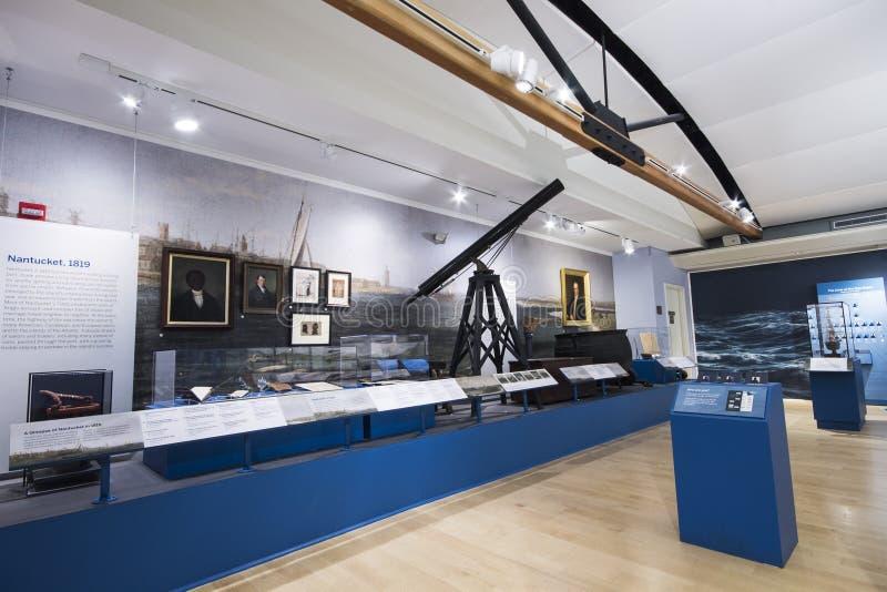 Museo de la caza de ballenas de Nantucket, Massachusetts imagen de archivo