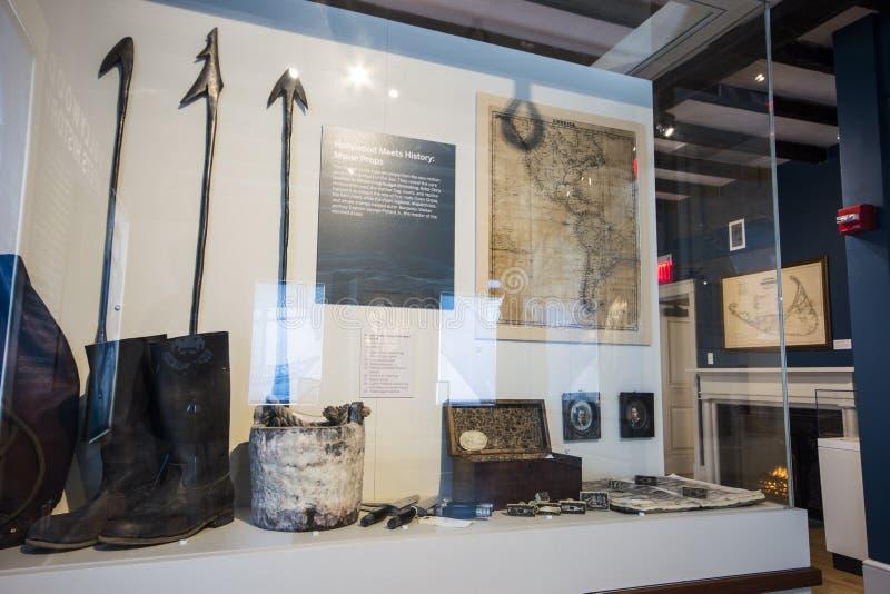 Museo de la caza de ballenas de Nantucket, Massachusetts fotografía de archivo libre de regalías