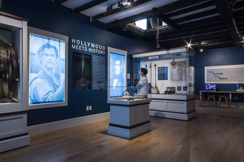 Museo de la caza de ballenas de Nantucket, Massachusetts fotografía de archivo