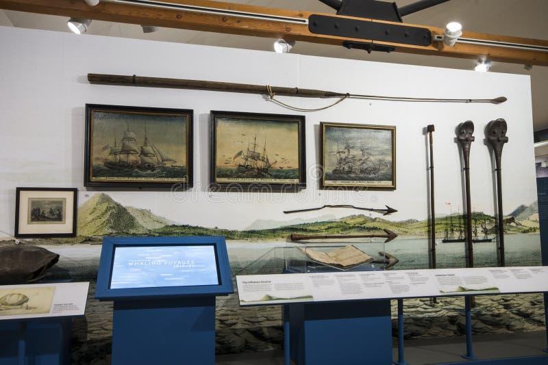 Museo de la caza de ballenas de Nantucket, Massachusetts imagenes de archivo