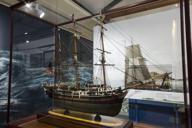 Museo de la caza de ballenas de Nantucket, Massachusetts foto de archivo libre de regalías