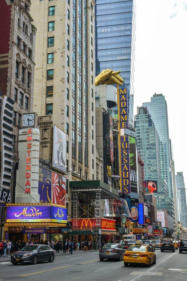 Museo de la cera en la 42.a calle cerca del Times Square en New York City fotografía de archivo libre de regalías
