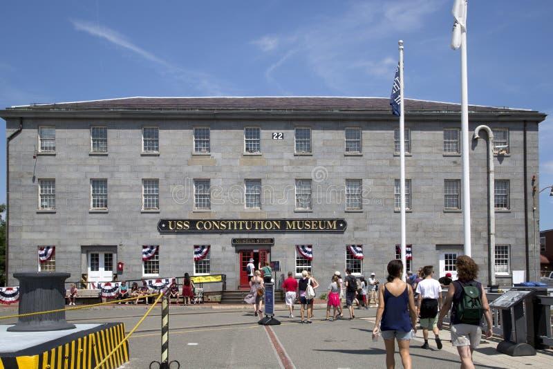 Museo de la constitución de USS de la visita de la gente fotografía de archivo libre de regalías