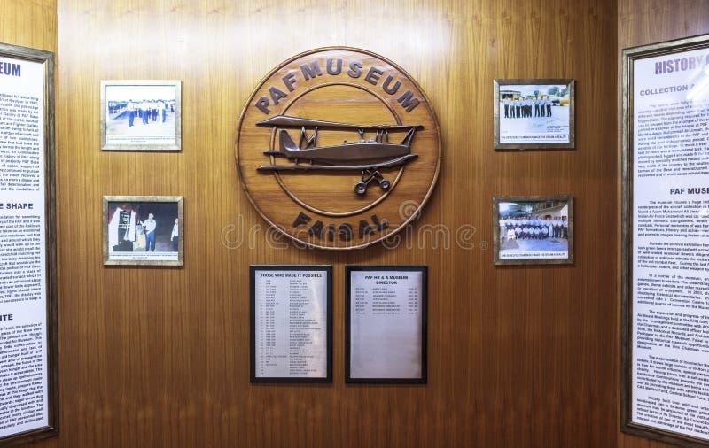 Museo de la fuerza aérea de Paquistán en Karachi imágenes de archivo libres de regalías