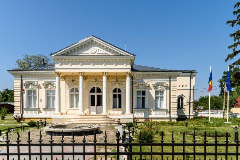 Museo de la historia Teodor Cincu In Tecuci foto de archivo libre de regalías